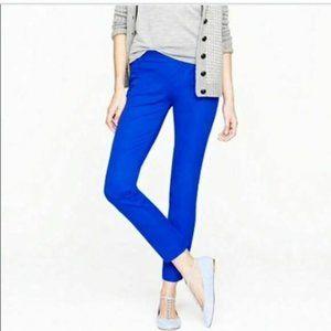 J.Crew Bright Blue Stretch Cotton Minnie Pants